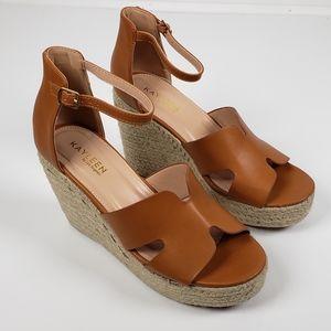 Kayleen Bacer Espadrilles Wedge Sandals 8.5